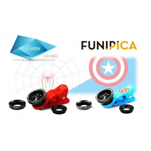 Lentes 3 En 1 Original Funipica iPhone Android Tablet