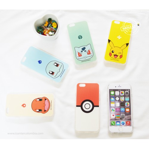 Carcasa Pokemon iPhone 6 6s Pikachu Squirtel Charmander Bulbasur Pokebola