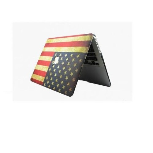Carcasa Macbook Pro 13 Cd Usa Estados Unidos America Logo