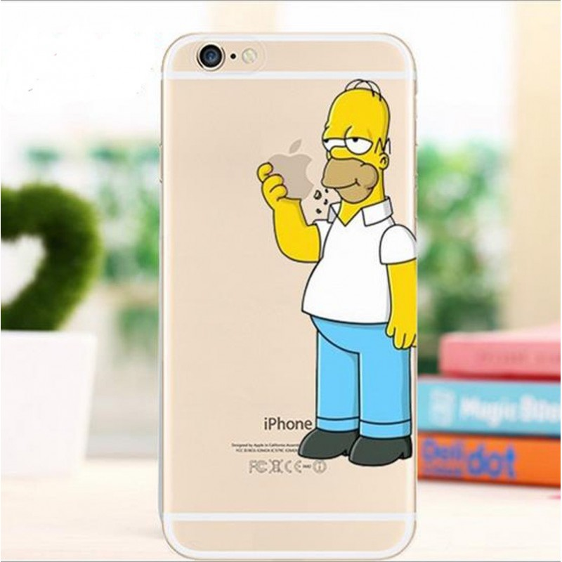 Carcasa Homero Simpson iPhone 6 Plus 6s Plus TPU Transparente