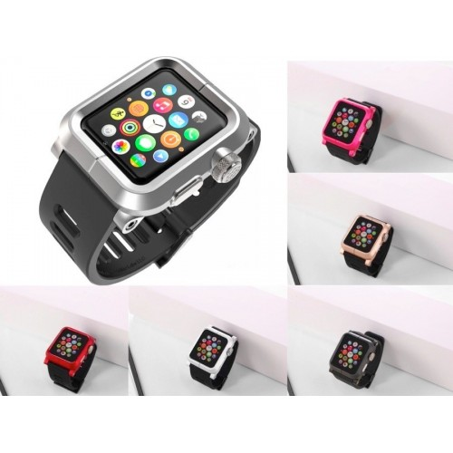 Pulso para Apple Watch  42mm - Carcasa con  correa silicona Lunatik Epik