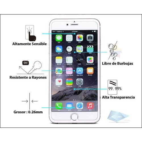 Vidrio Protector Pantalla iPhone 7 8 0.26mm Screen Glass®