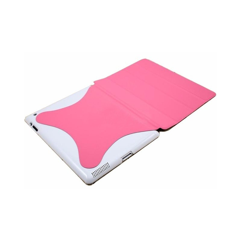 Carcasa Para Ipad 2 Spider Rosada Brillante Smart Cover