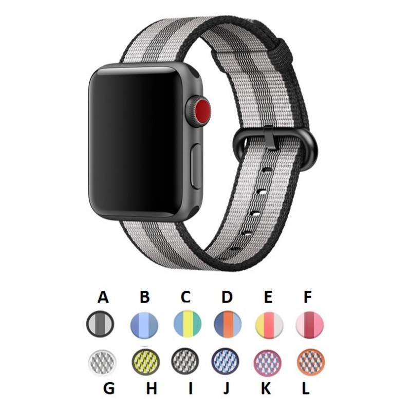 Pulso correa Apple Watch 38mm Nylon serie 1 2 3