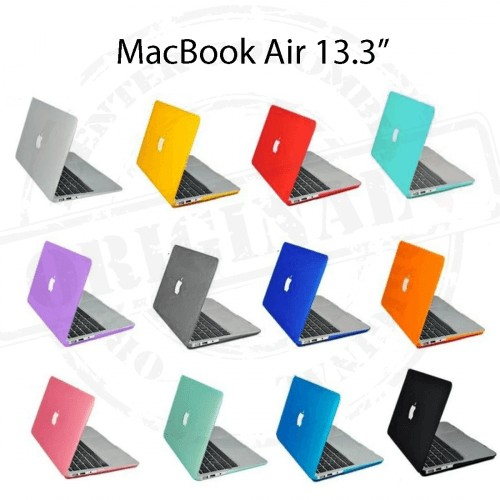"Carcasa Macbook Air 13"" Mate Colores Corte Logo"