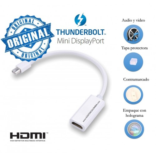 Adaptador Macbook Mini Display - Thunderbolt A Tv Hdmi