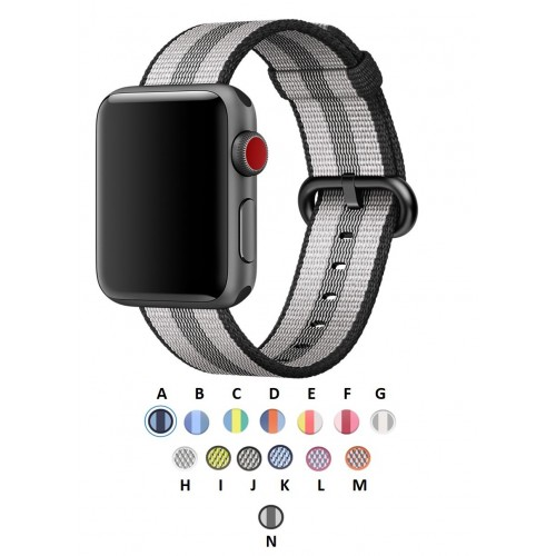 pulso correa Apple Watch 42mm Nylon Serie 1 2 3