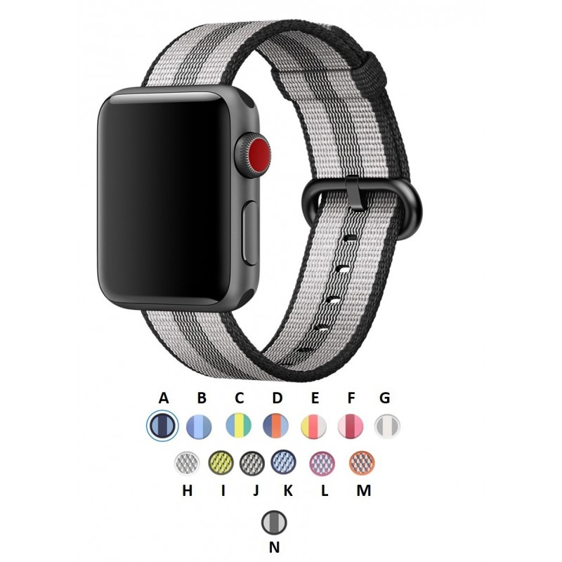 pulso correa Apple Watch 44 mm Serie 4 5 Nylon