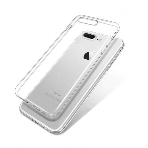Carcasa estuche forro iphone 7 plus 8 plus transparente flexigel