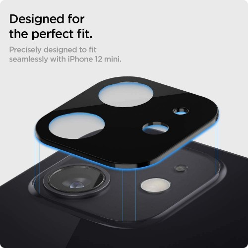 Protector 3d Camara Vidrio Lente Apple iPhone 12 Mini + Kit