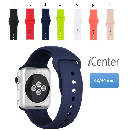 Pulso Correa Sport en silicona Para Apple Watch 42 mm 1 2 3 4 5 6 SE